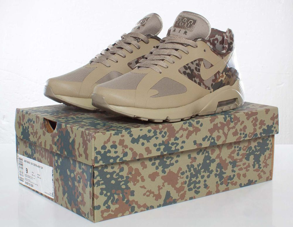"new concept d0c62 680b1 Nike Air Max 180 Germany SP ""Camo""   Release Reminder   Detailed Photos"
