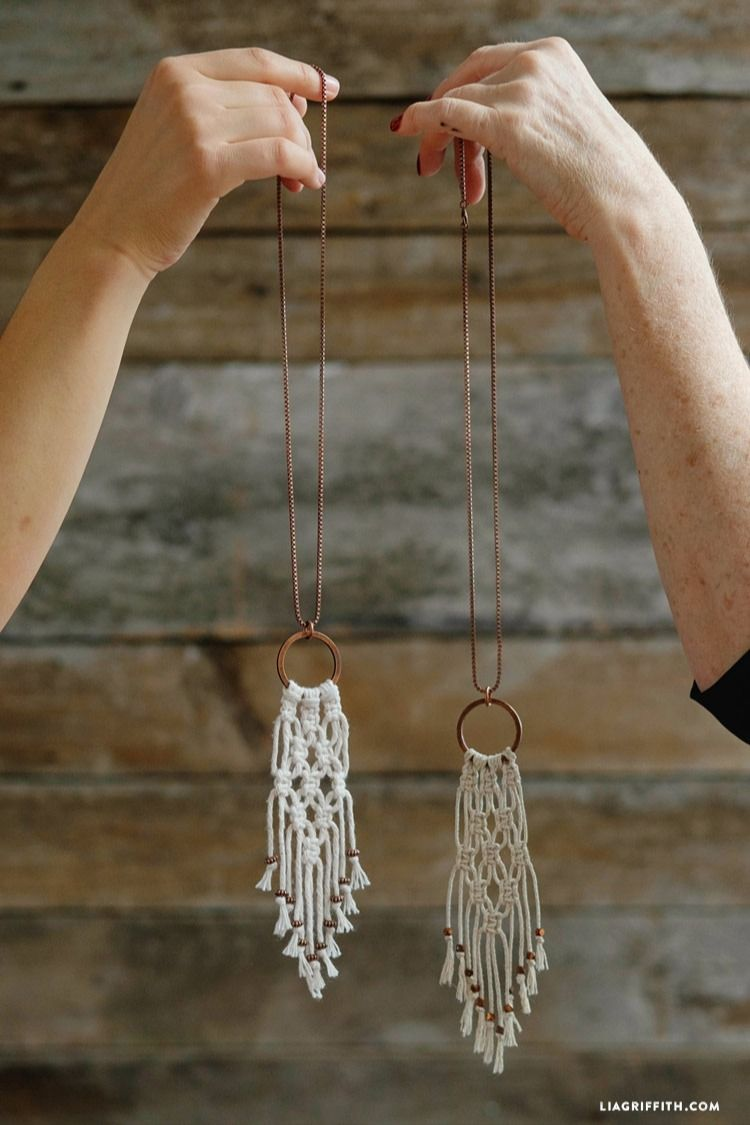 Macrame Necklace tutorial from Lia Griffith