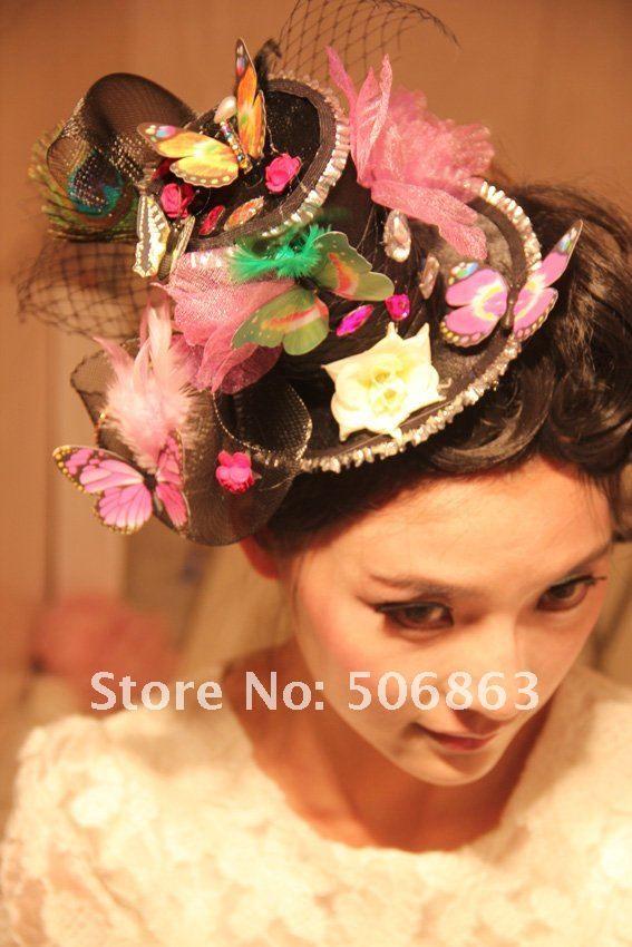 Crazy Hat Bridal Hair Ornaments Fascinator Hat Hair Ornaments