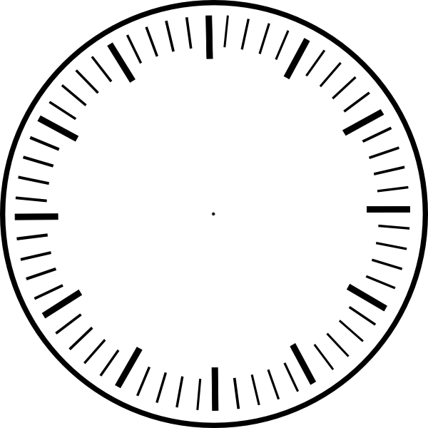 art clock face template | clock face, hour and minute marks, no