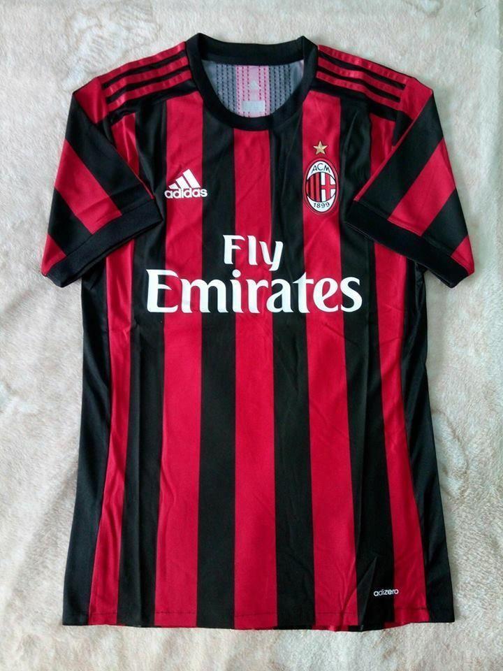 055f8c6831 AC Milan FC Adidas Adizero Home Authentic Jersey 2017 2018 Football Sport  FIFA  adidas  ACMilan