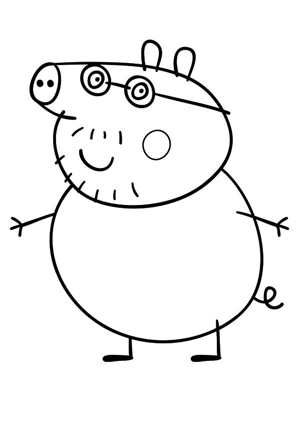 print coloring image Facebook, Busy book and Craft - new free coloring pages for peppa pig