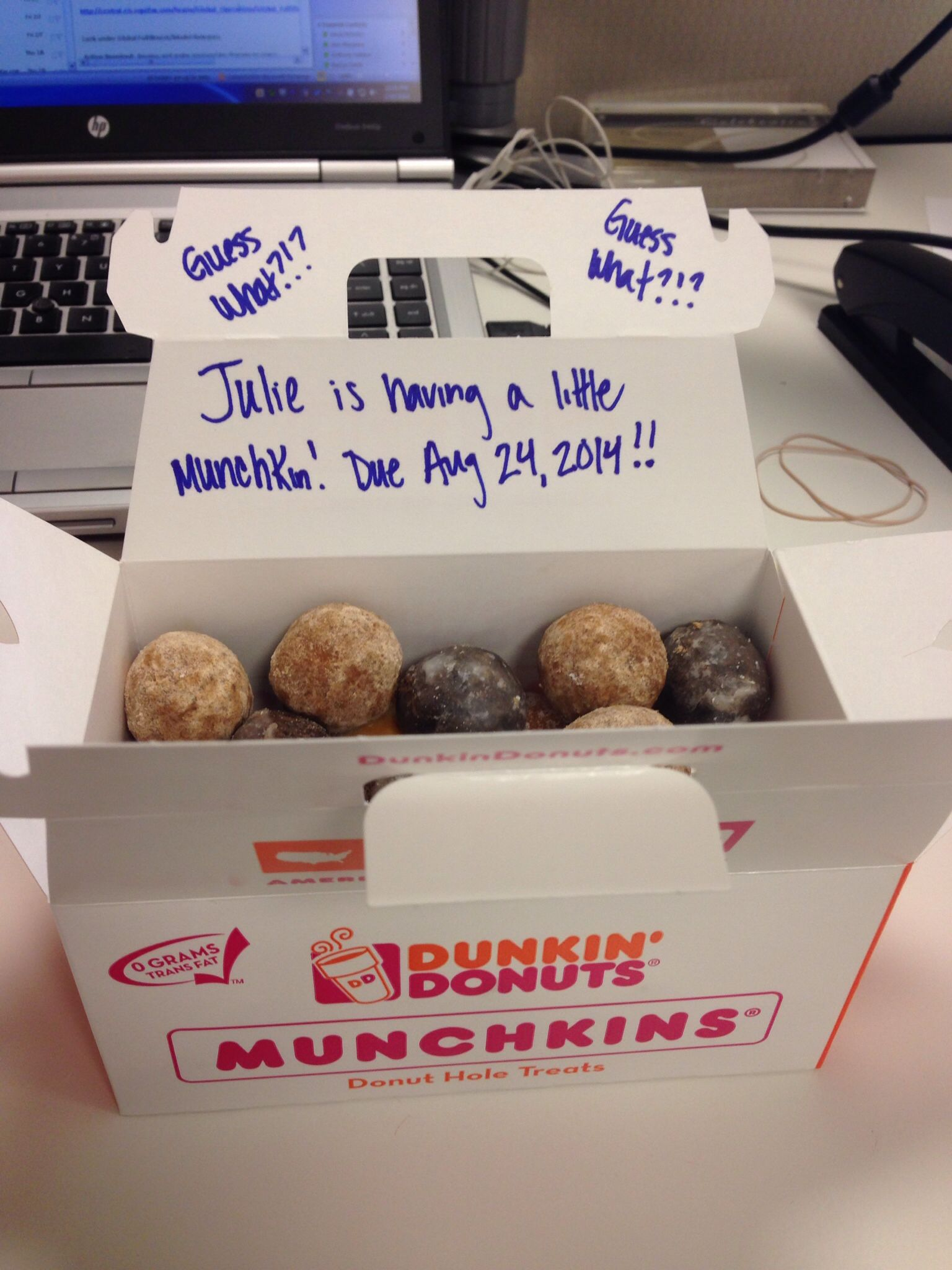 how i announced my pregnancy to my office baby pinterest