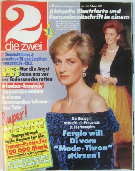 Sarah and diana | 1987 Sarah Ferguson and Diana Spencer