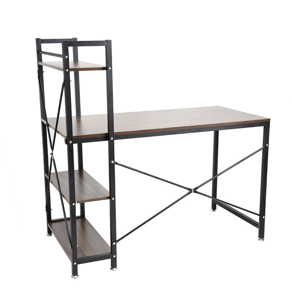 Functional Desks functional home bookcase shelf stainless steel computer desk pc