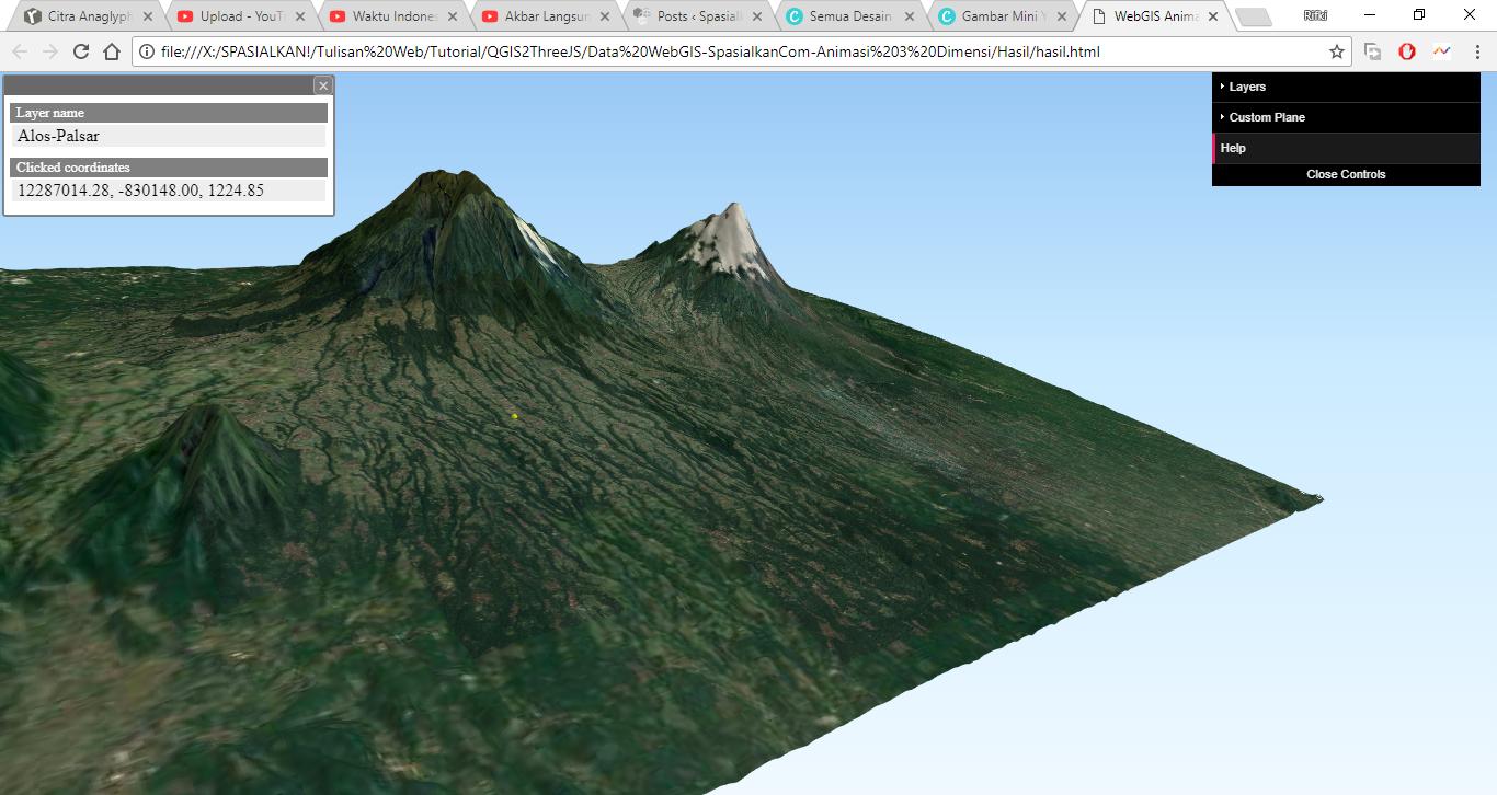 Tutorial WebGIS (Peta Online) Animasi 3 Dimensi dengan QGIS2ThreeJS