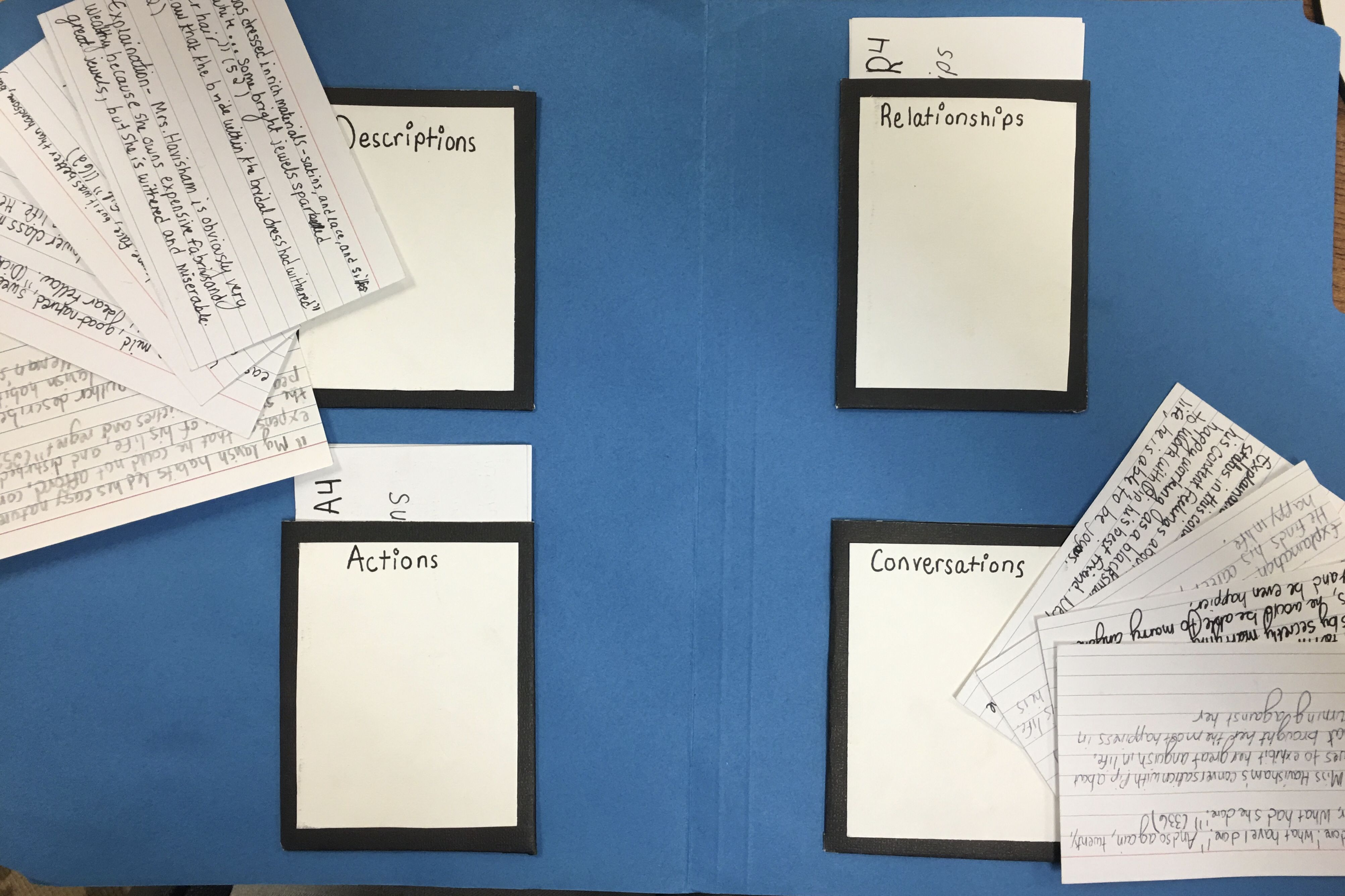 Gathering text evidence with pattern folders text