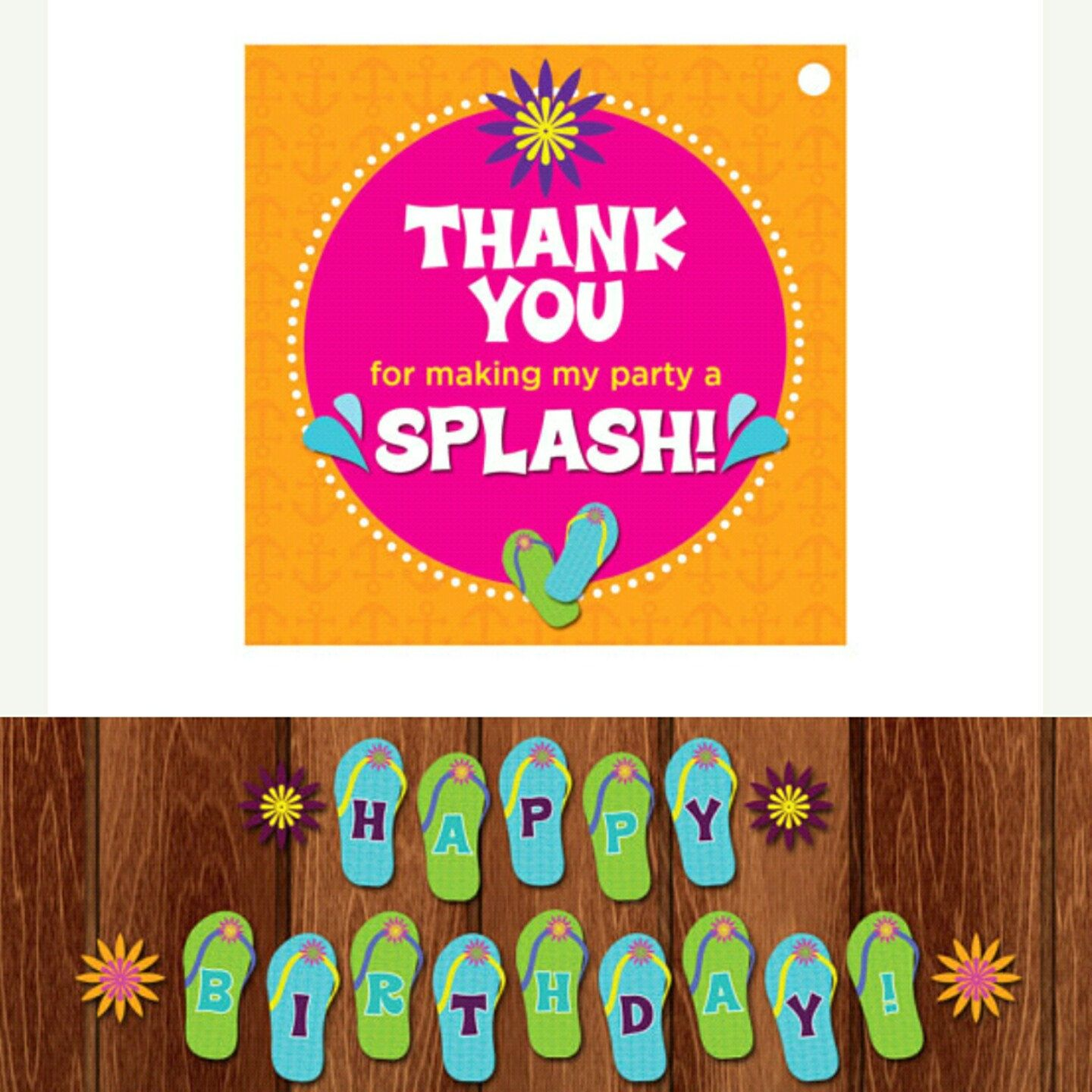 Instant Download Printable Beach Theme Thank You Party Favor Tags