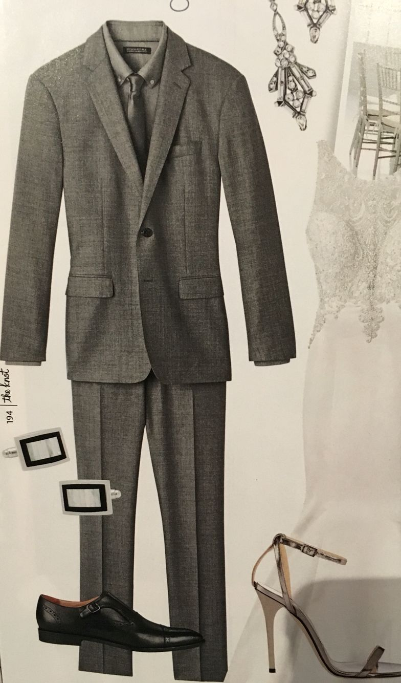 Groom's suit.
