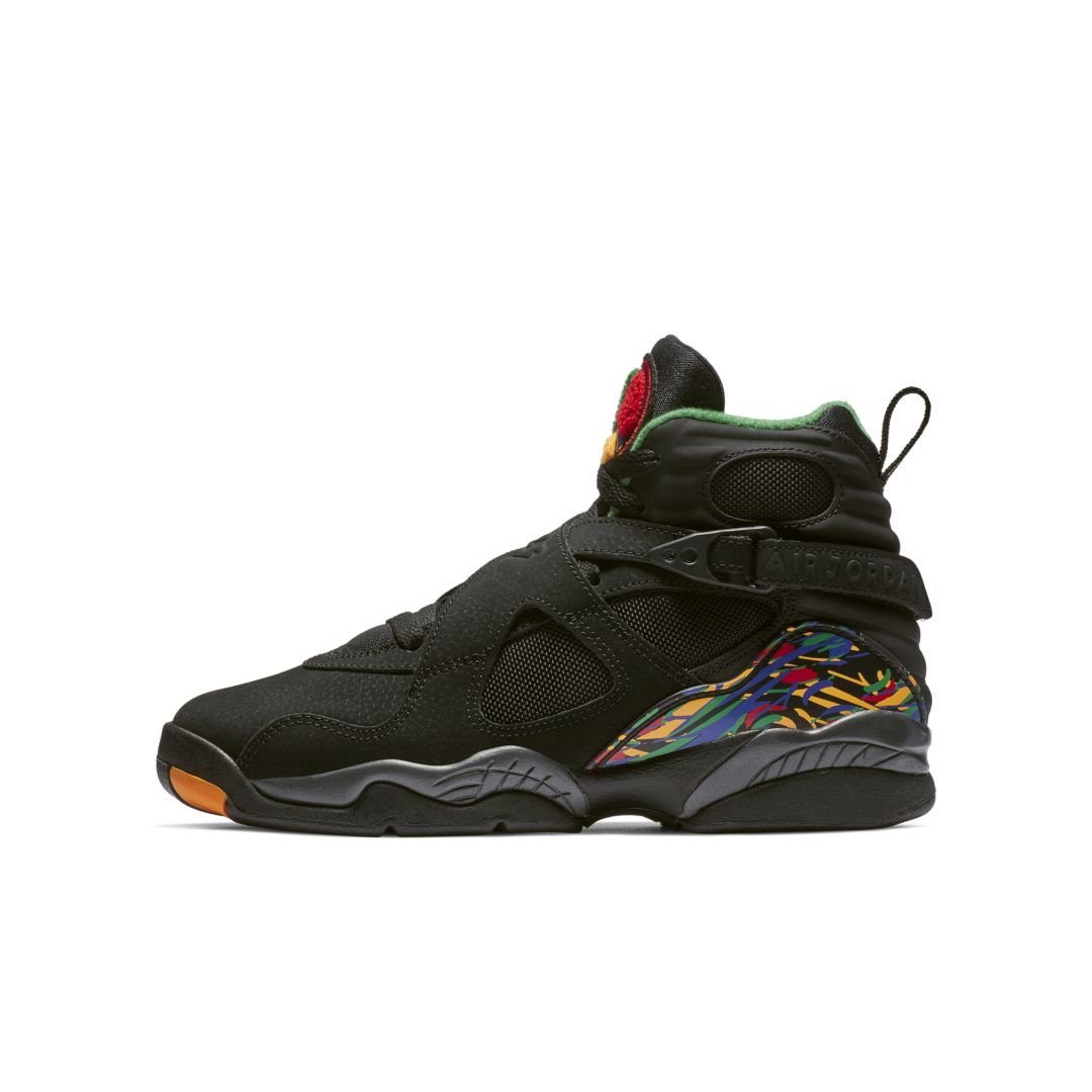 reputable site c0263 69dff Air Jordan Retro 8 Big Kids  Shoe Size 6.5Y (Black)