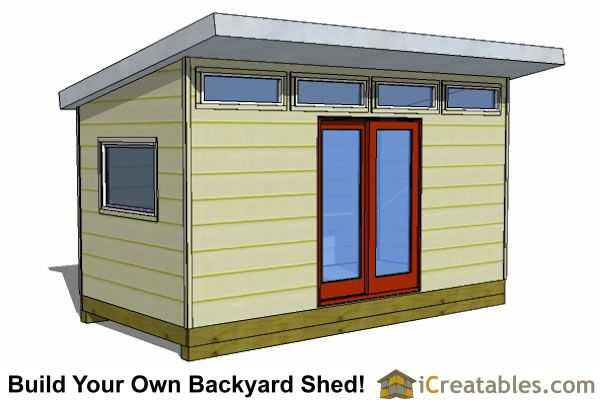 8x16 modern office shed plans   Modern shed, Shed plans ...