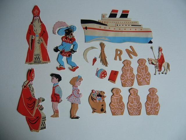 Flanel bord uit de jaren '50