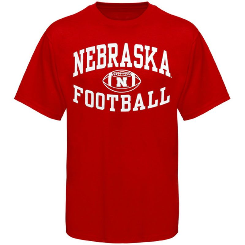 febadc73abcddf Nebraska Cornhuskers Reversal Football T-Shirt - Scarlet