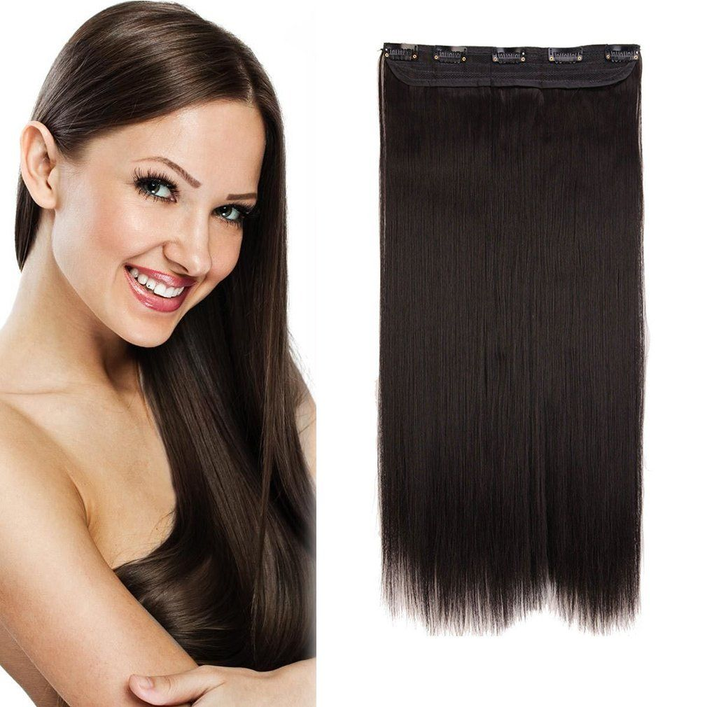 Sexybaby Synthetic Fiber Straight 150g Hair Extensions Clip In With