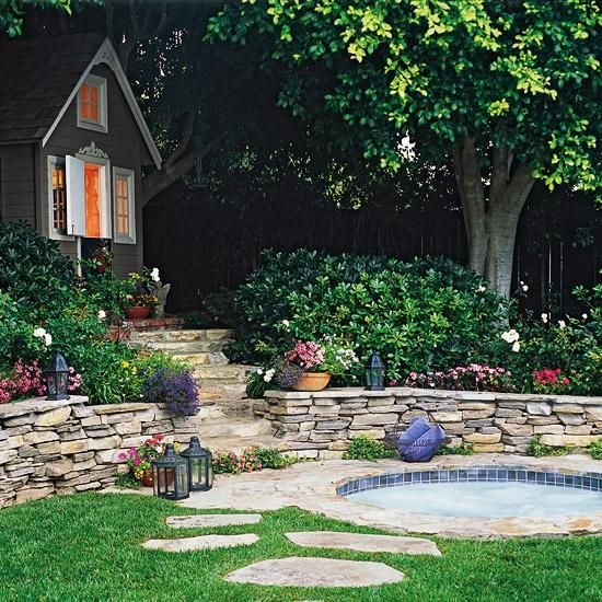 Garten Hang anlegen natursteine treppen ideen Pflanzen - garten am hang anlegen
