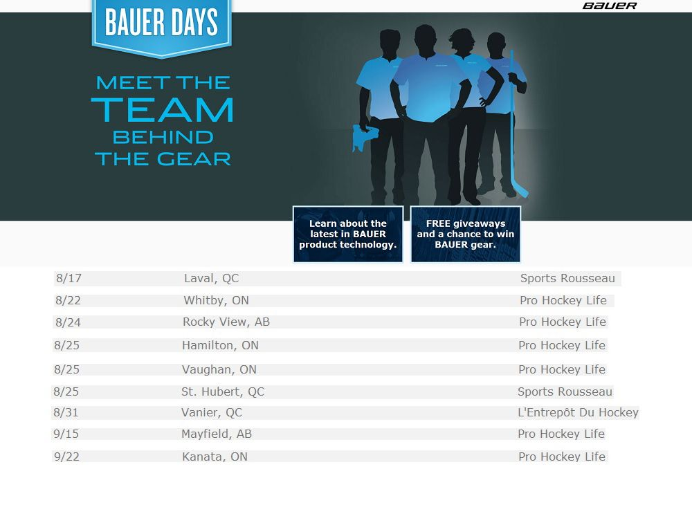 Bauer Days is coming to a PHL Megastore near you soon