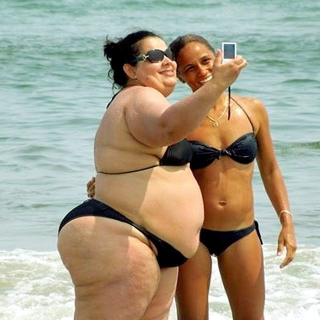 Beach ssbbw BBW Nudist