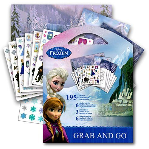 Frozen Stickers Activity Coloring Book Elsa Anna Olaf And Kristoff Want Additional Info Click On The Image Coloring Books Coloring Book Set Disney Frozen