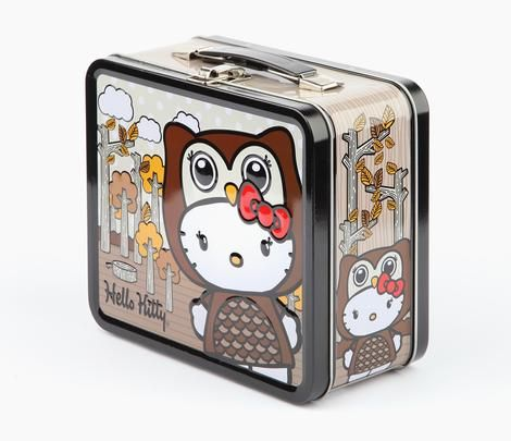 06aa2ed273 Hello Kitty Metal Lunchbox  Owl by Loungefly