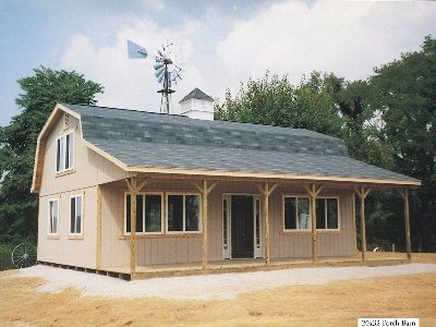 Hi Loft Porch Barns Sold In Ohio Amish Buildings House