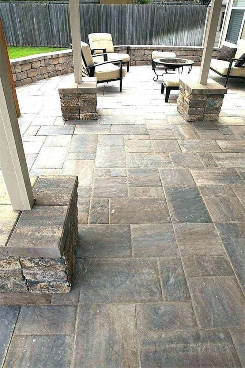 25 Patio Design Ideas With Stones To Bring A Sophisticated Look Godiygo Com Backyard Patio Concrete Patio Outdoor Patio Decor