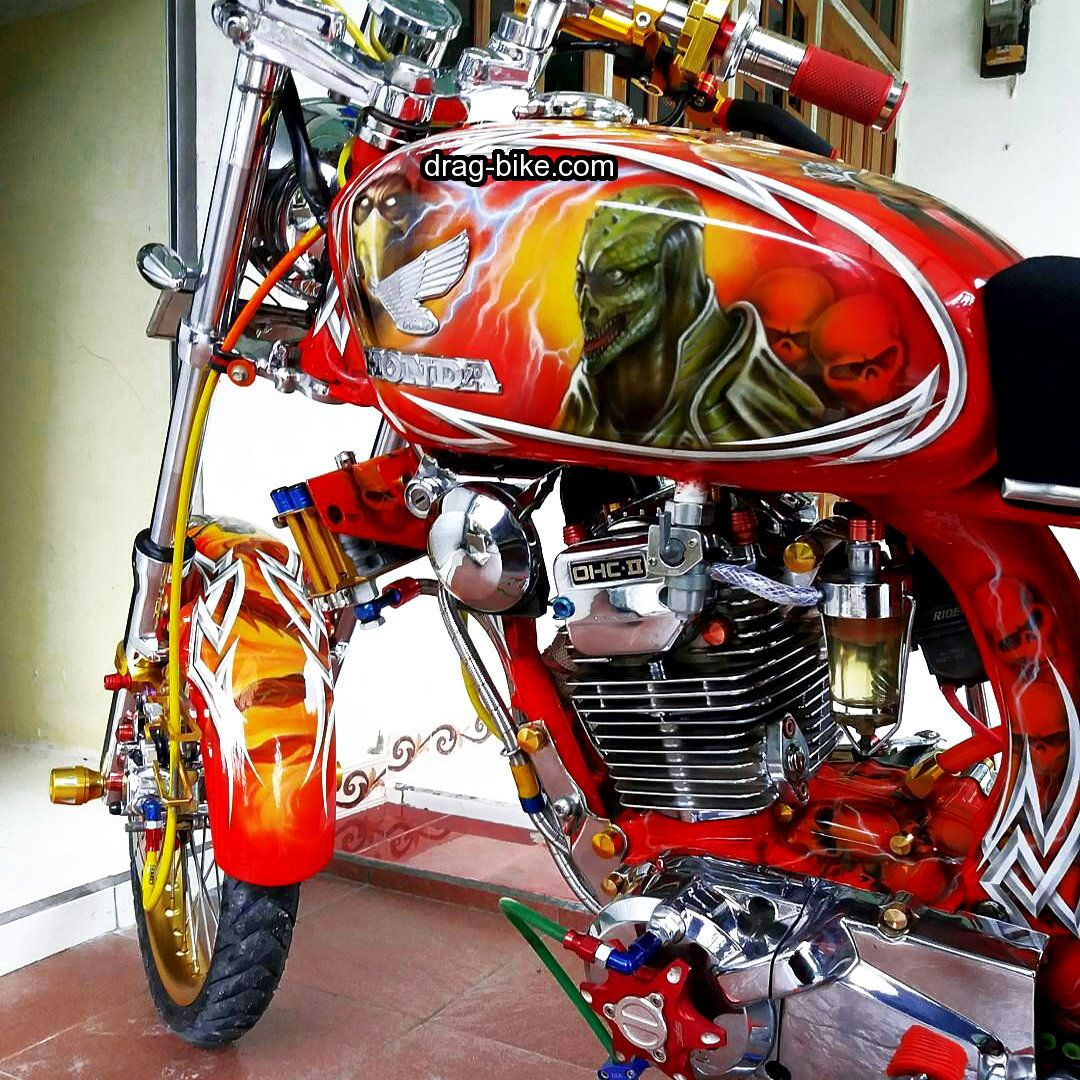 Modifikasi Cb 100 Kontes Terbaik Airbrush Vans Pinterest Honda Cb150 Verza Cash Wheel Masculine Black Tangerang Drag Bike The
