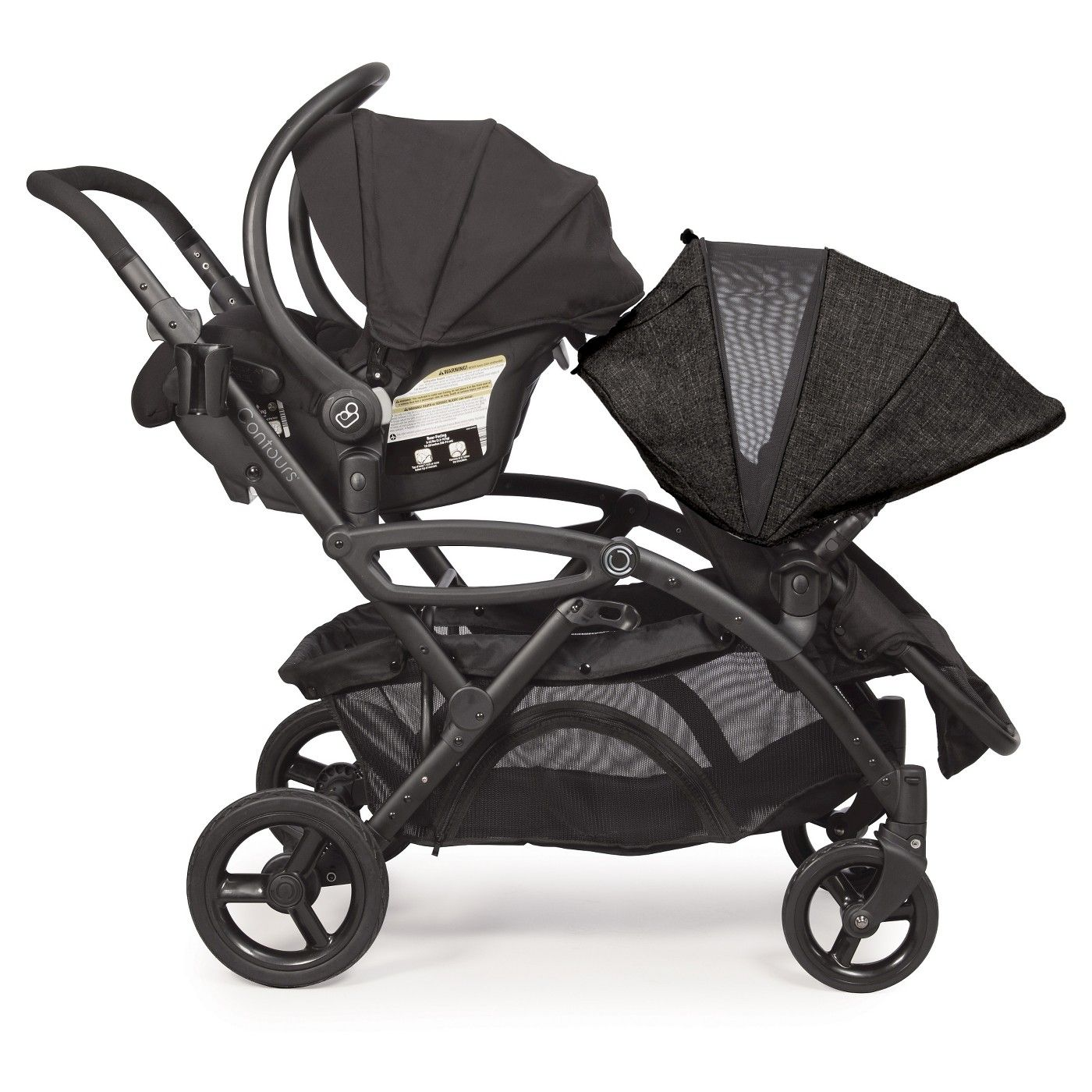 Contours Options Elite Tandem Double Stroller Carbon in