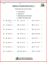 math worksheet : pemdas rule order of operations 1  education  pinterest  math  : Order Of Operations With Exponents Worksheet