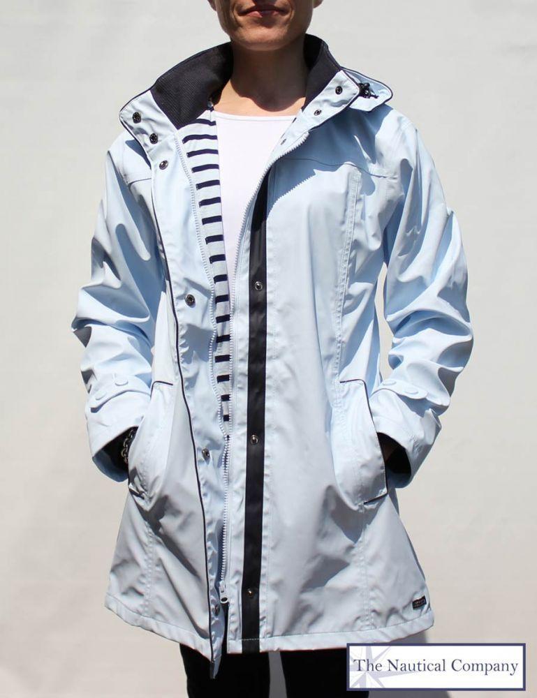 8126d577b59 Women s Lined Raincoat with Hood Light Blue