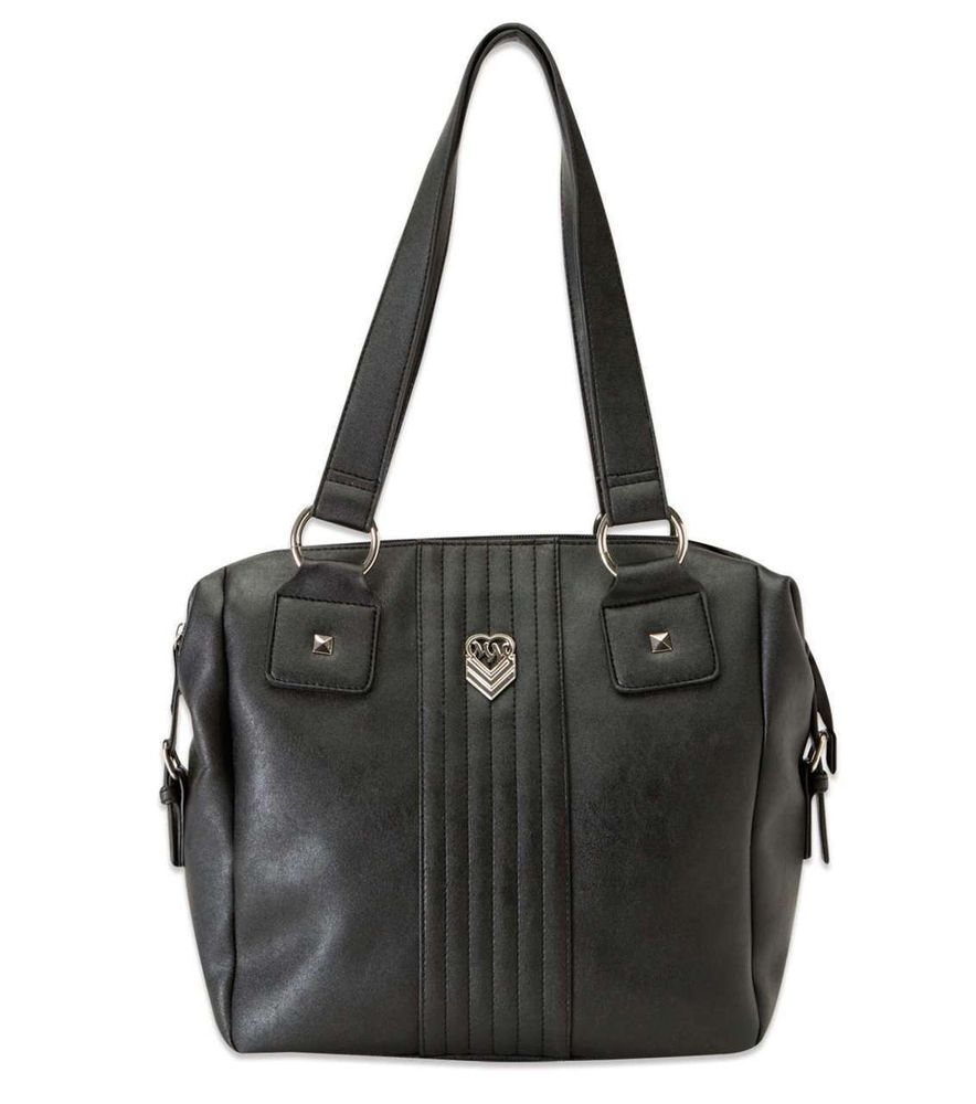 #MetalMulishaMaidens Devious Satchel Handbag Faux Leather Purse #MetalMulisha #ShoulderBag