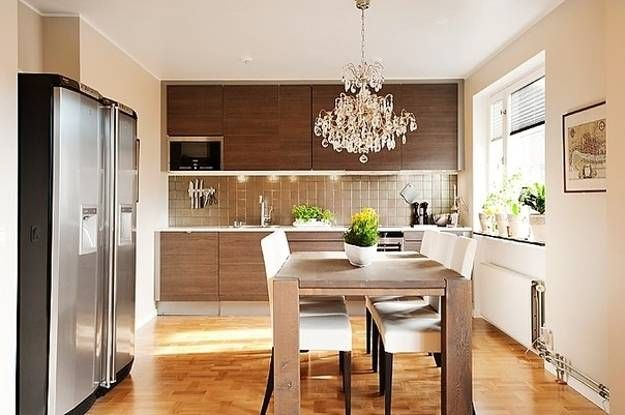 15 Great Ideas For Small Kitchens And Compact Dining Areas Kitchen Inspiration Design Kitchen Concepts Dining Room Style
