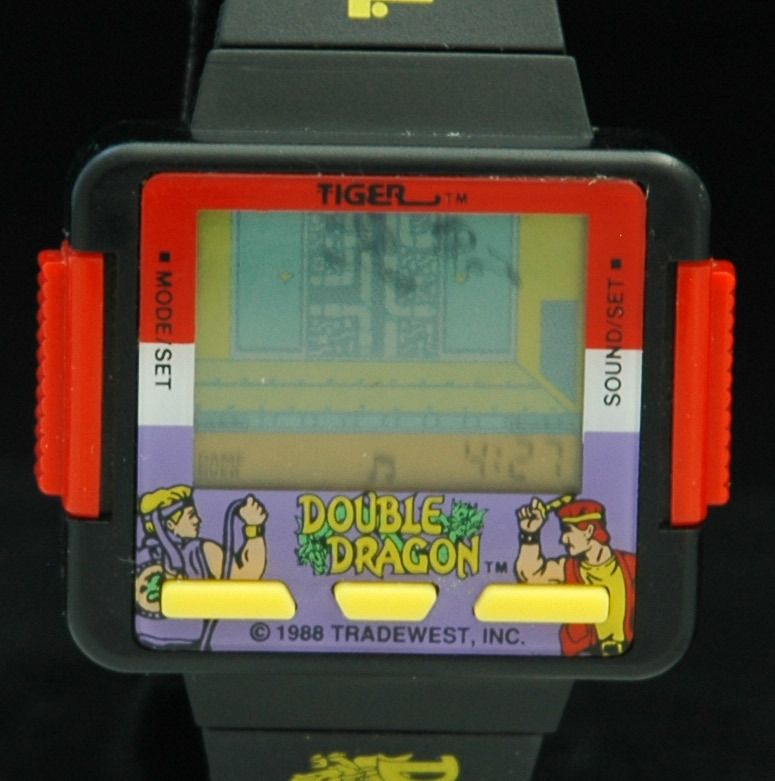 1988 Double Dragon Lcd Digital Mens Video Game Watch Tiger Vtg X