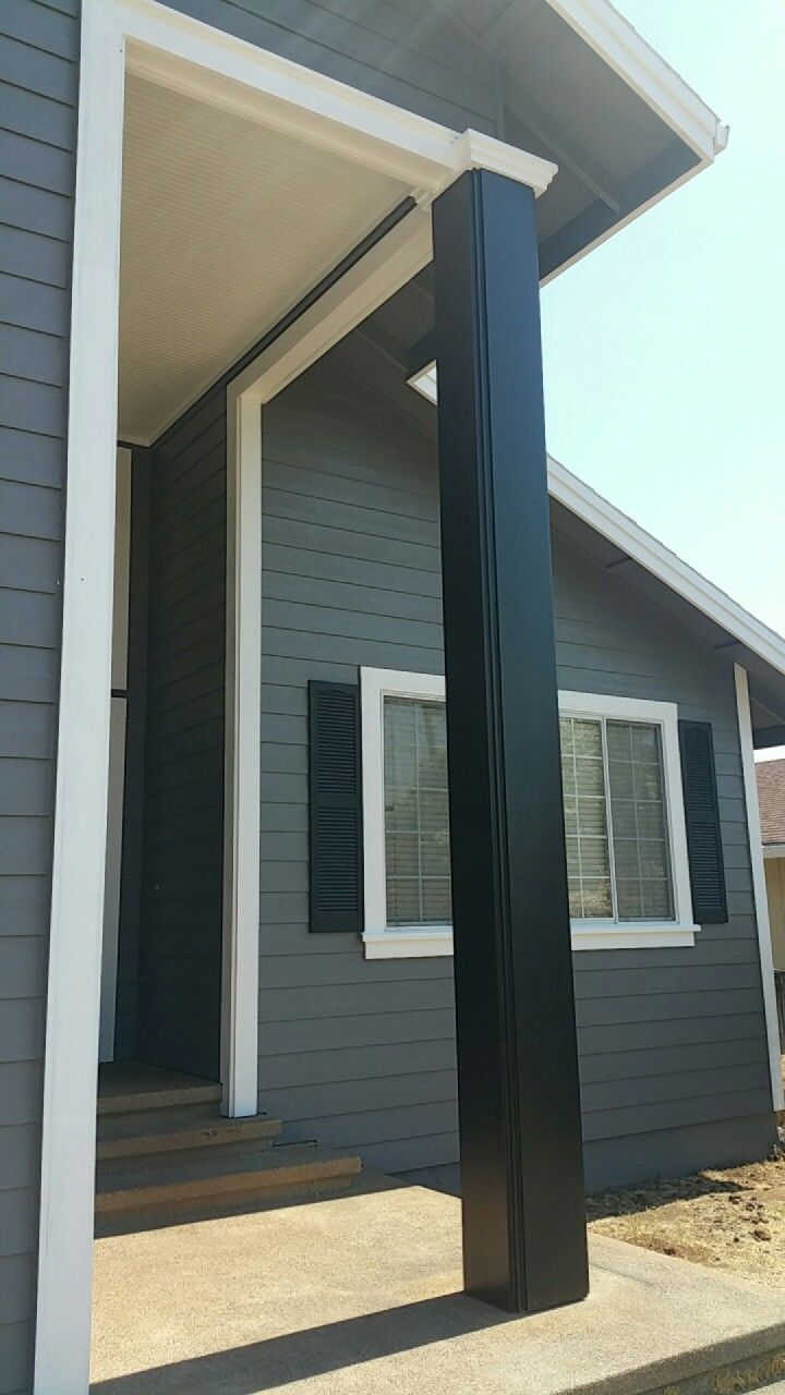 behr paint iron mountain grey ultra pure white carbon on behr exterior house paint photos id=64417