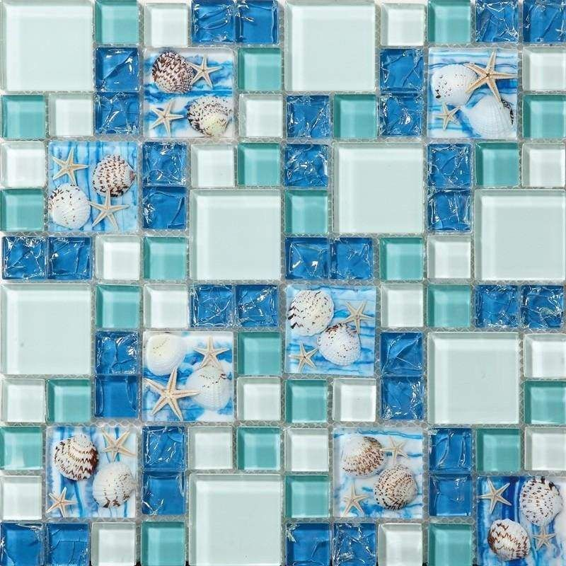 Beautiful Sea Shell Mosaic Tile Wonderful For Any Nautical Theme
