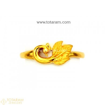 f4e2eb82a 22K Gold 'Peacock' Ring For Women - 235-GR5414 - Buy this Latest Indian  Gold Jewelry Design in 2.750 Grams for a low price of $176.00