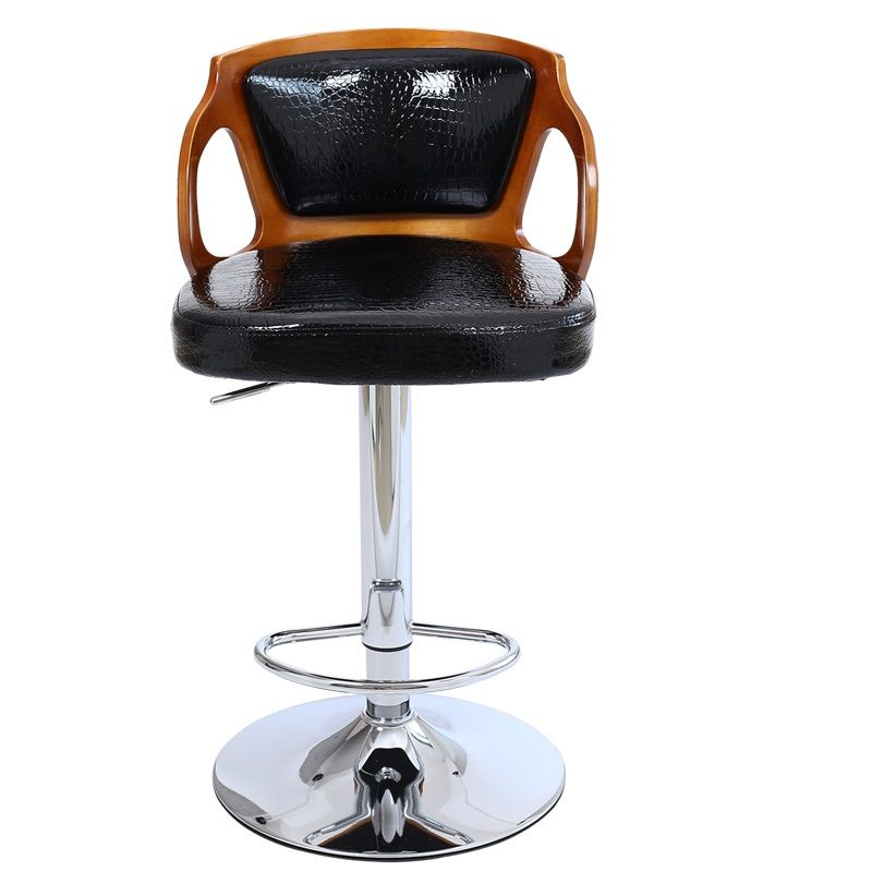 Solid Wooden Backrest Lifting European Style Bar Stool Chair Free Shipping