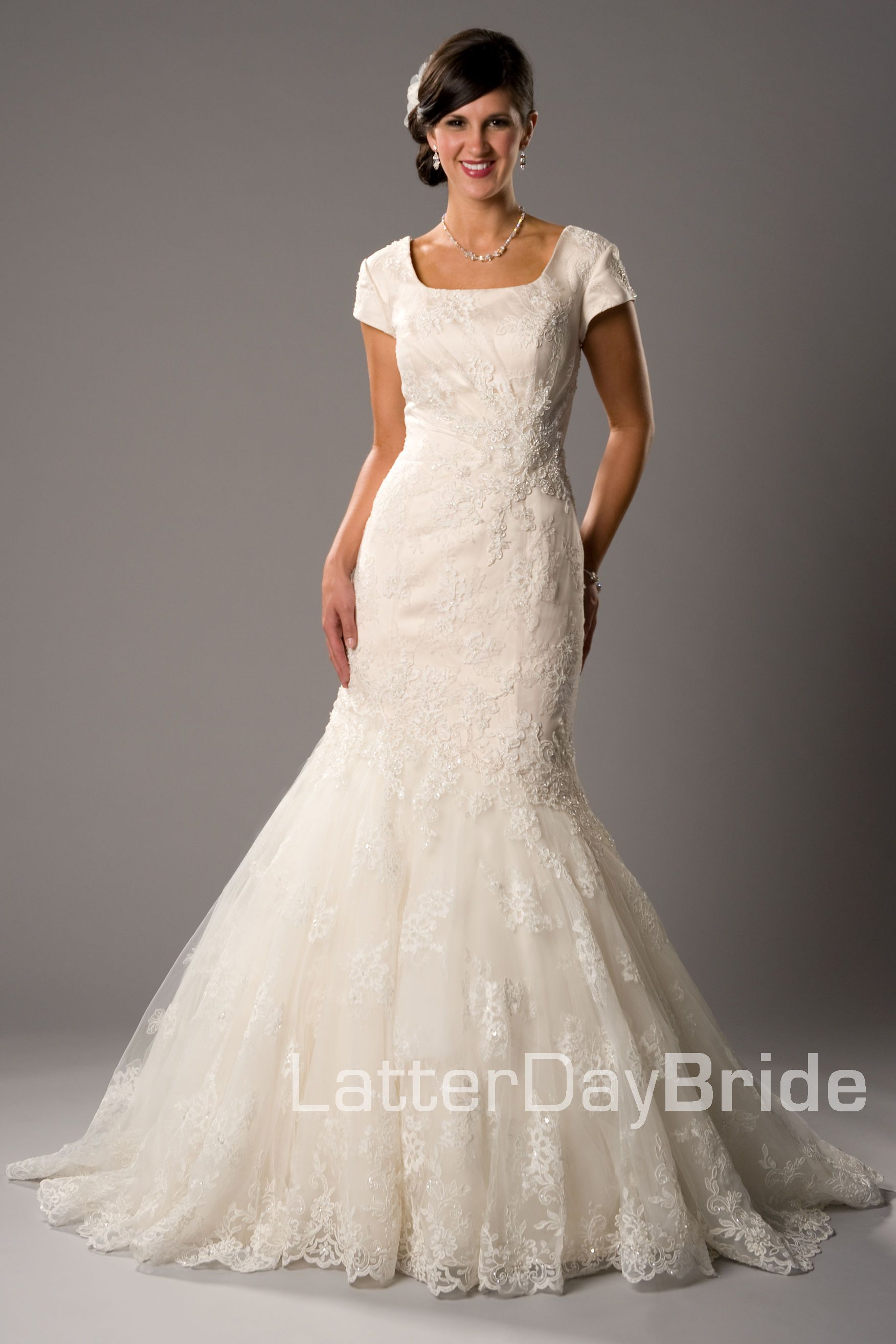 Modest Wedding Dress, Esperanza | LatterDayBride & Prom $1195.00 ...