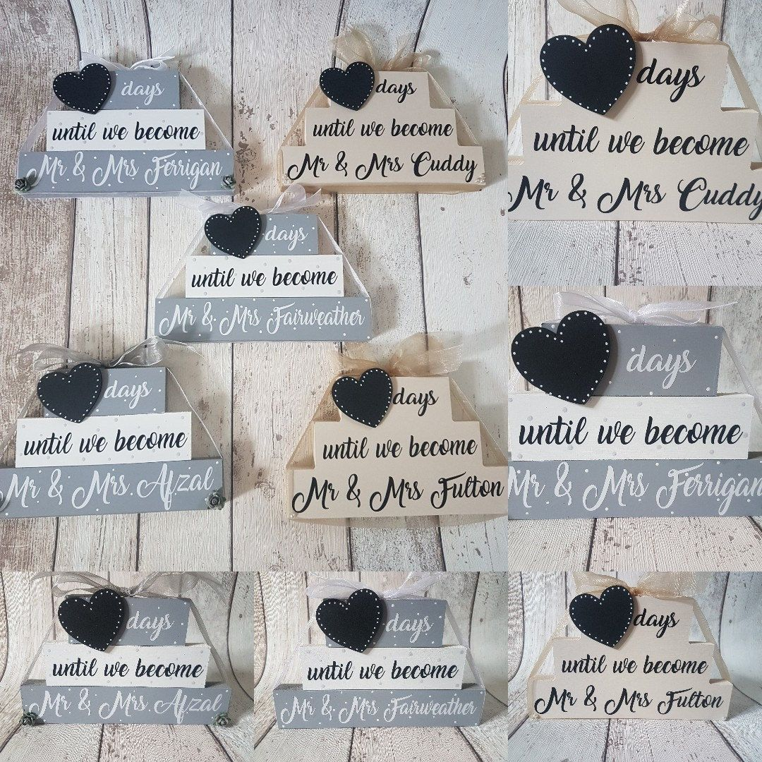 Wedding Countdown Gifts For Bride: Personalised Wedding Countdown