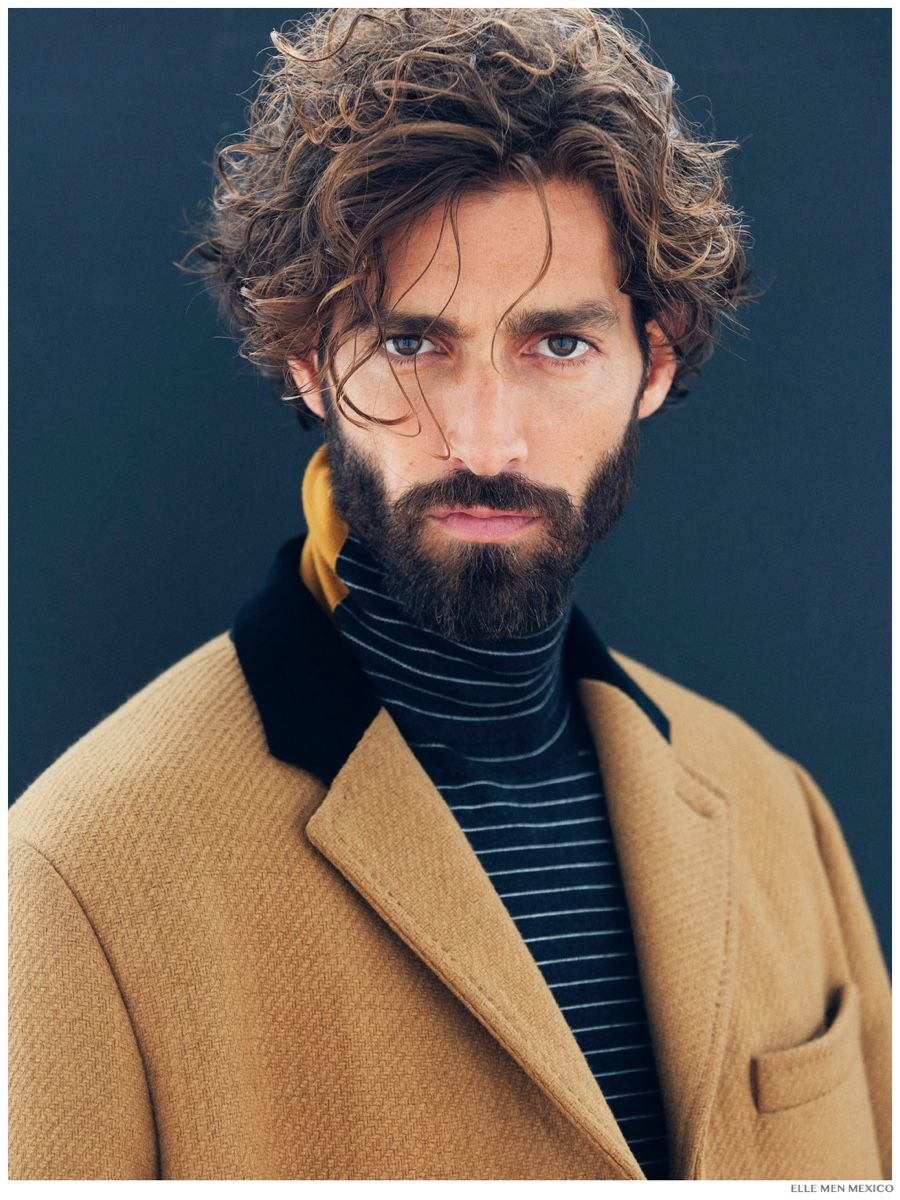 Best curly haircut for men maximiliano patane plays makeup artist for elle man mexico  macho