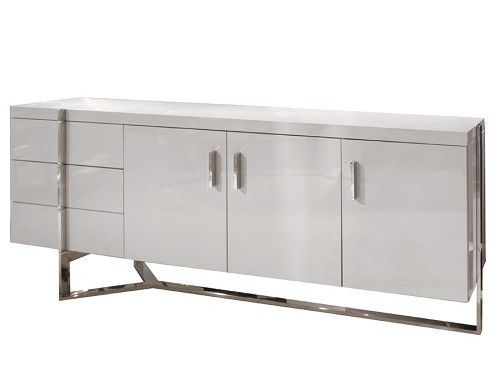 Modern White Crocodile Lacquer Credenza Glam Office Ideas - 20 modern credenzas with contemporary flair
