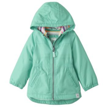 Baby Girl Carter's Fleece-Lined Rain Jacket | Baby & Kids ...