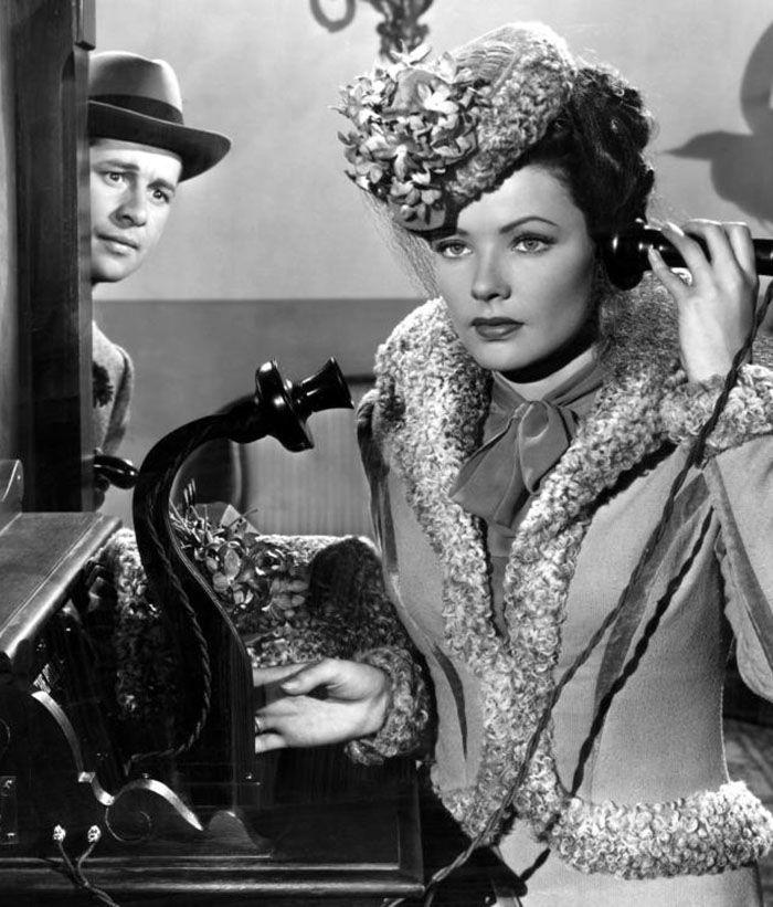 """Don Ameche y Gene Tierney en """"El Diablo Dijo No"""" (Heaven Can Wait), 1943"""