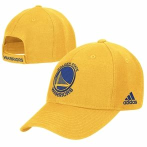 reputable site d9c95 95547 Golden State Warriors adidas Primary Logo Structured Adjustable Cap – Gold