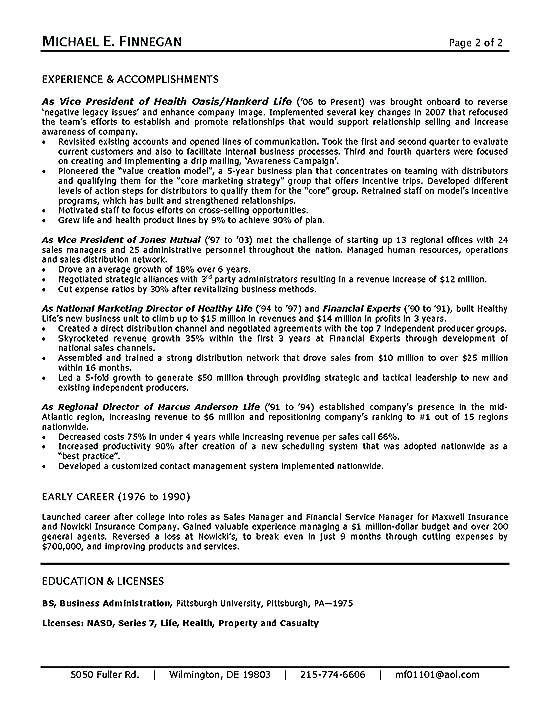 Insurance Resume Examples Insurance Resume Example Sample