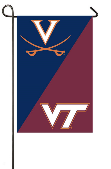 A House Divided Garden Flag: UVA And VT