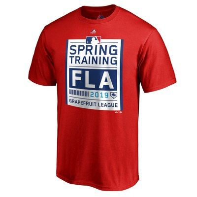 bf5ab4ca491 Men s Majestic Red 2019 Spring Training Grapefruit League Primary Logo  T-Shirt