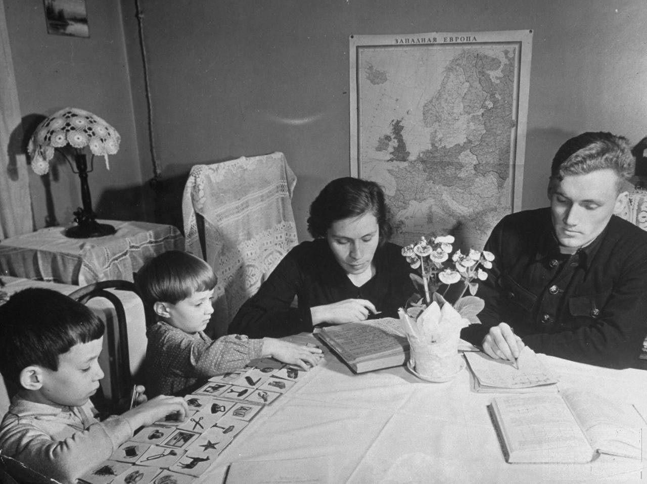 Открытку марта, картинки советские семья