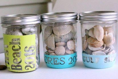 Make Vacation Keepsakes From Mason Jars Mason Jars Mason Jar Crafts Jar