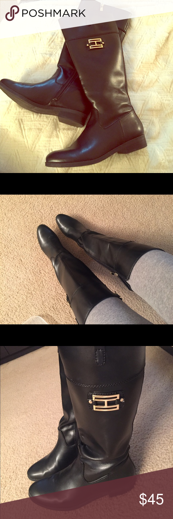 Tommy Hilfiger Black Riding Boots 8M. Tommy Hilfiger Riding Boots ! Worn twice! Tommy Hilfiger Shoes Heeled Boots