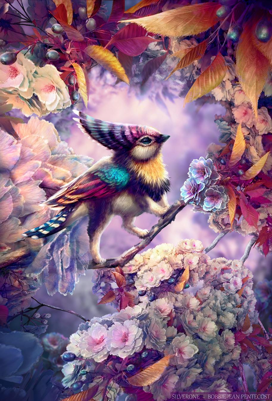 Rainbow Cachobie Gryphette (old version) by BJPentecost on